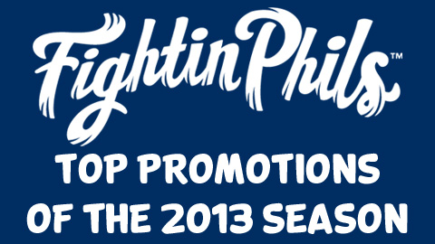 Over the next two weeks, the Reading Fightin Phils will be revealing the top promotions of 2013.