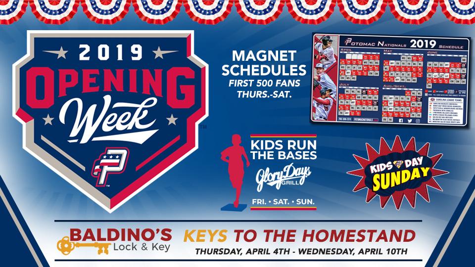 Baldino's Lock & Key Keys to the Homestand: April 4th