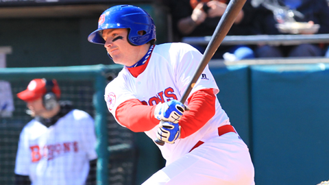 Third baseman Andy LaRoche hit a two-run homer in the Bisons 10-3 loss to Columbus on Monday.