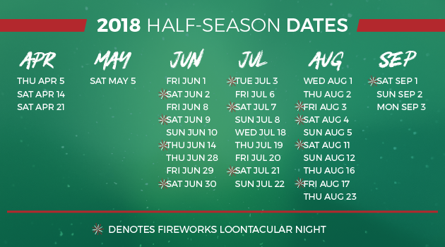 Half Season Tickets Great Lakes Loons Content