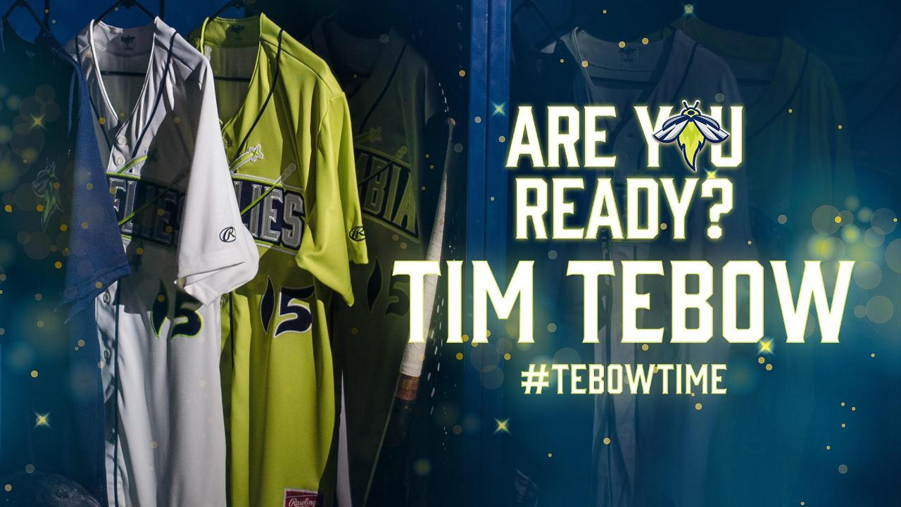 finest selection 8d875 c38b9 Tebow Time' Coming To Columbia | Columbia Fireflies News