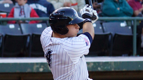 Josh Phegley has hit 39 homers in five Minor League seasons.