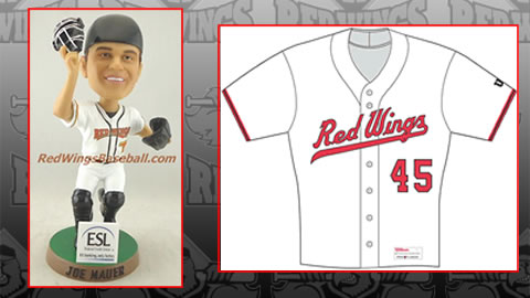 Joe Mauer bobbleheads, 1990's throwback jerseys highlight this weekend's promotions.