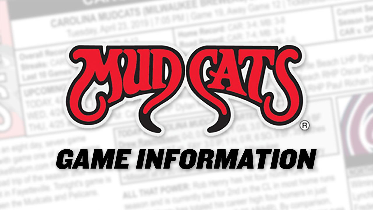 8/15: Mudcats vs  Dash Game Notes | Carolina Mudcats News
