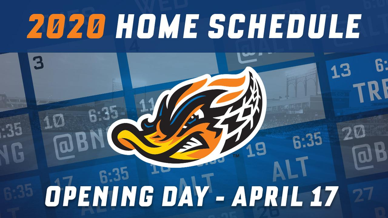 Flying Squirrels Schedule 2020 RubberDucks announce 2020 home schedule | Akron RubberDucks News