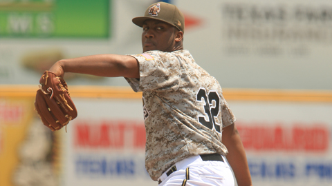 Keyvius Sampson is fourth in the Texas League with 82 strikeouts.