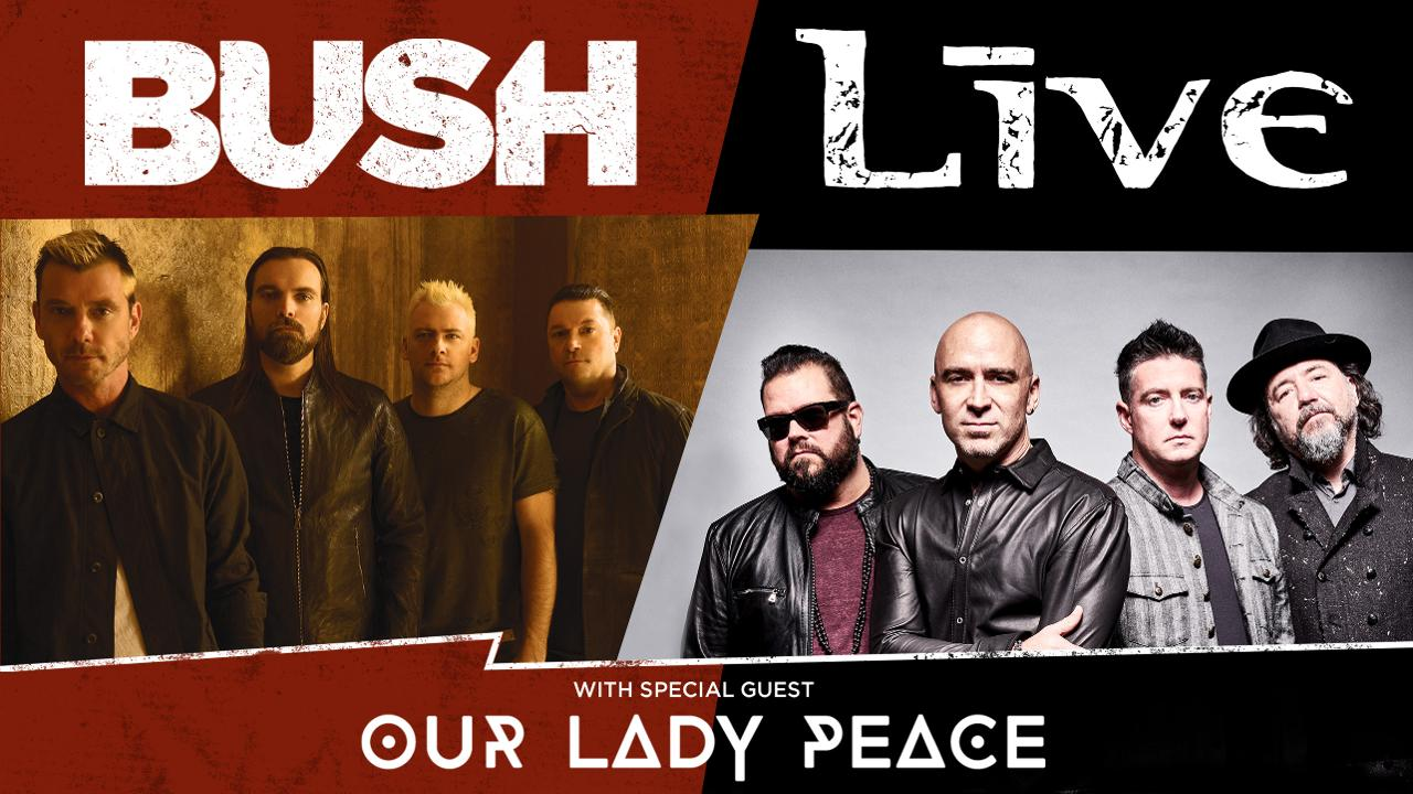 Bush & Live in Concert at Neuroscience Group Field with Our Lady
