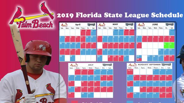 Louisville Bats 2019 Schedule Roger Dean Chevrolet Stadium announces home 2019 Florida State