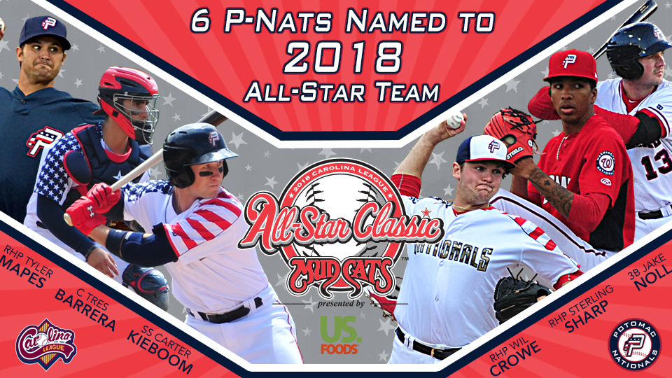 45abf726449 Six P-Nats Named to Northern Division All-Star Team. Three Starting  Pitchers Join Three Position Players for 6/19 Matchup at Five County Stadium
