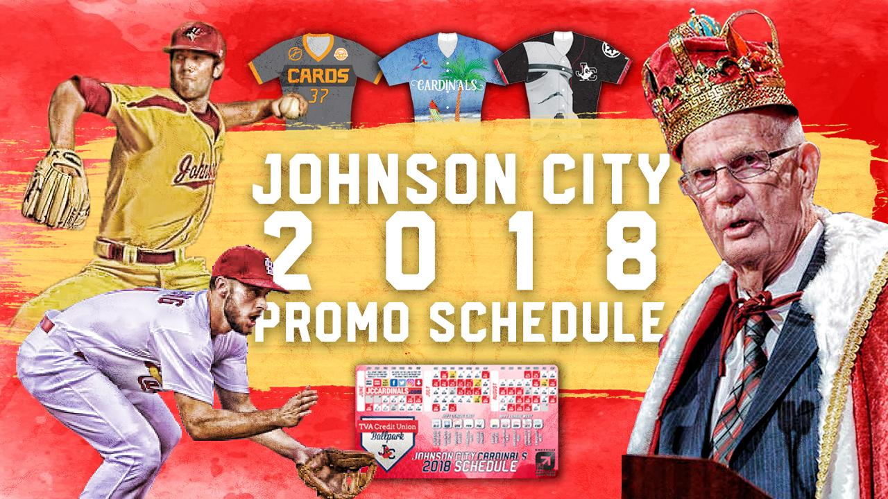 2018 Promotional Schedule Released Johnson City Cardinals News