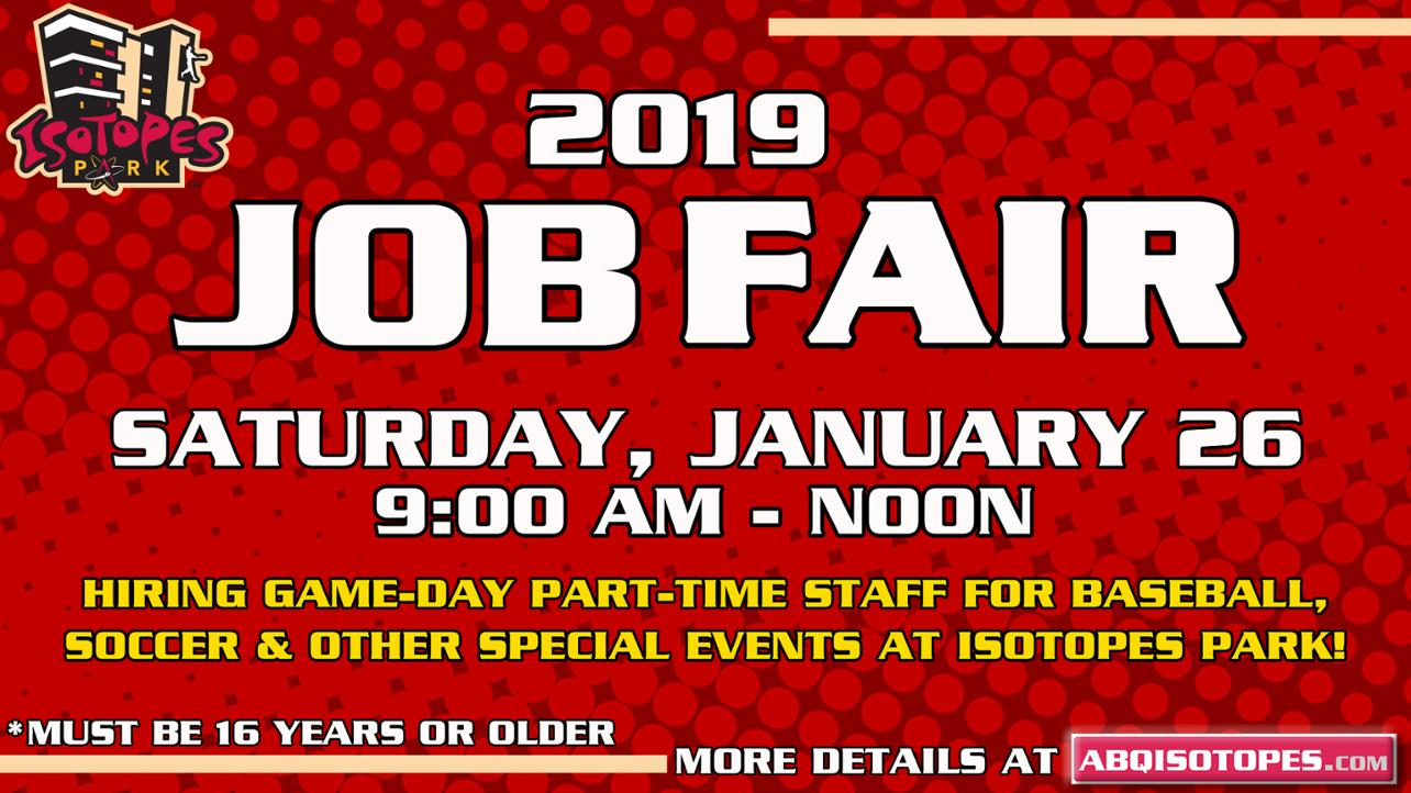Isotopes to Host 17th Annual Job Fair