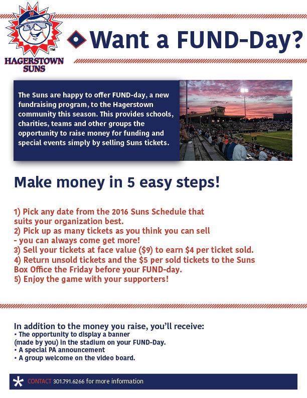 Fund Day Hagerstown Suns Tickets