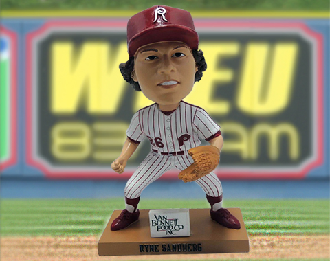 Modeled after his 1980 season, Sandberg's bobblehead will be given out to the first 2,000 adults on April 18.