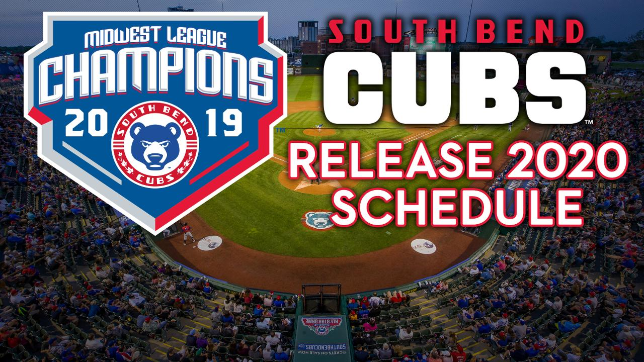 image relating to Cubs Printable Schedule identify South Bend Cubs Launch 2020 Plan South Bend Cubs Information