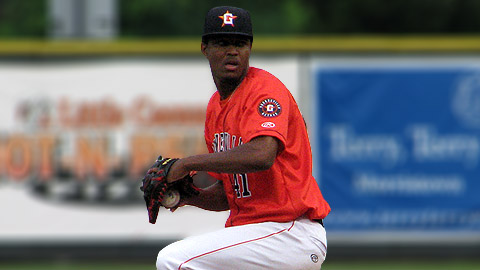 The Astros' Jandel Gustave has allowed two runs in 11 innings over two starts.