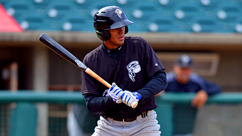Tuesday's matinee at Hickory marked Eudy Pina's first two-homer game.
