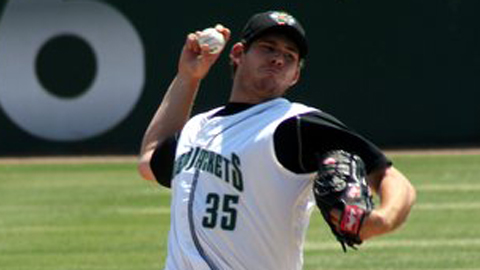 Joe Biagini is 2-0 with a 4.94 ERA in seven starts for Class A Augusta.