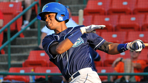 Rosell Herrera's batting average is best in the South Atlantic League by 29 points.