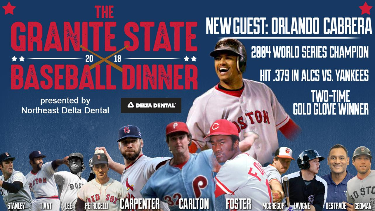 Orlando Cabrera Added to 2018 Granite State Baseball Dinner!