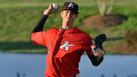 Jake Cose is tied for third in the South Atlantic League with a 1.95 ERA.