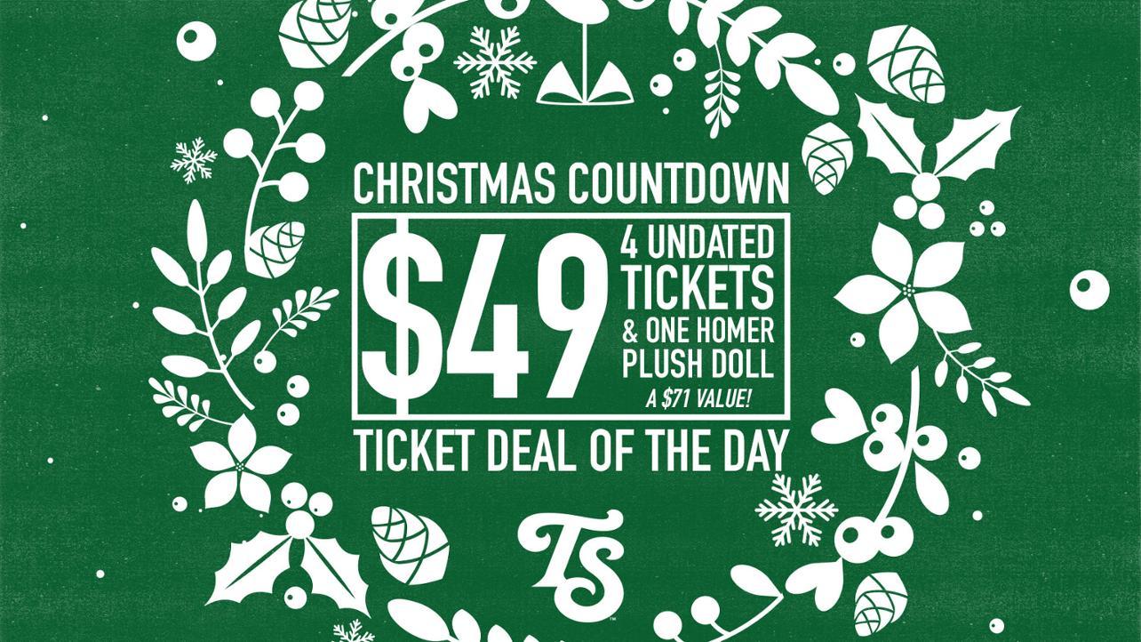 Christmas Ticket Plan media wall
