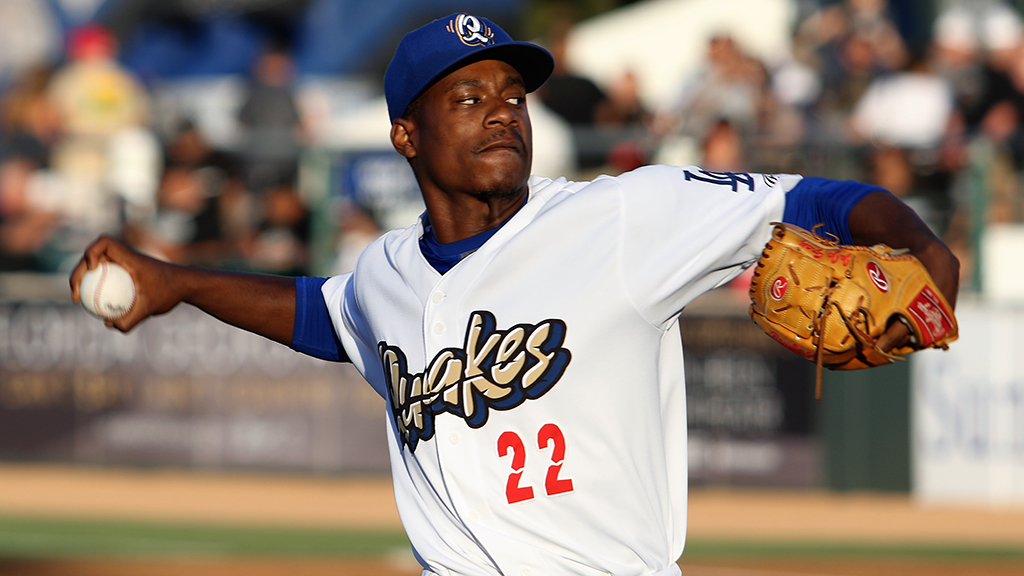 Watch Dodgers' Gray make Texas League bow with Drillers