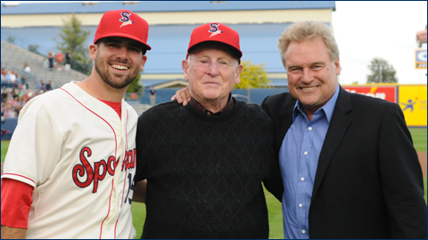 Bobby Brett, far right, has owned and operated the Spokane Indians since 1985.