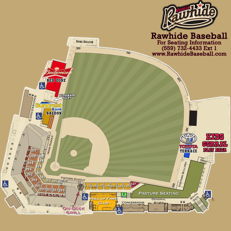 100 Diamondbacks Stadium Map Bryant Denny Stadium