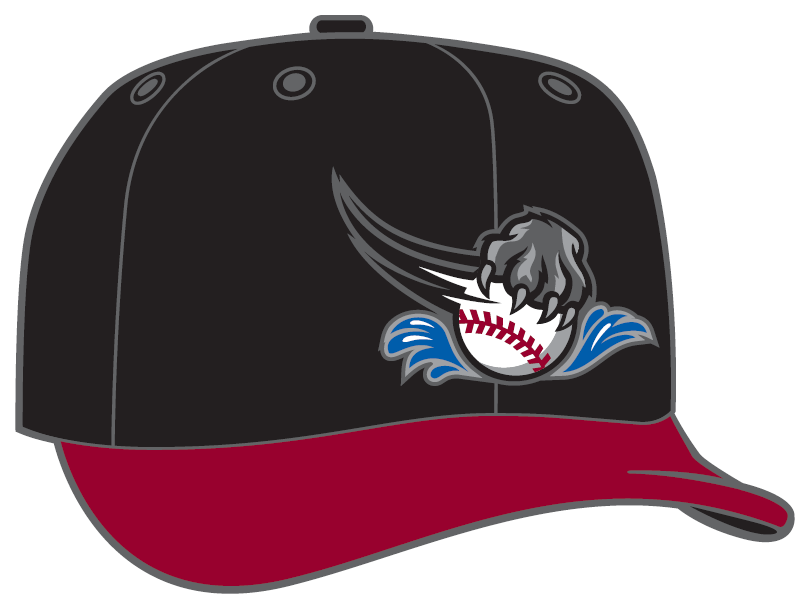 ... a baseball in water and a Diamond Era gray cap with the full primary  logo. f88f14a725d