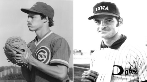 Greg Maddux (left) and Tony LaRussa both came through Des Moines early in their Hall of Fame careers.