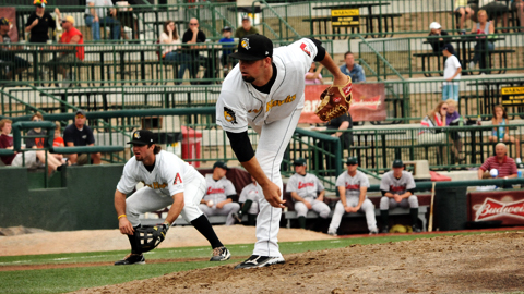 Jesse Darrah ranks second in the Midwest League with 12 strikeouts.