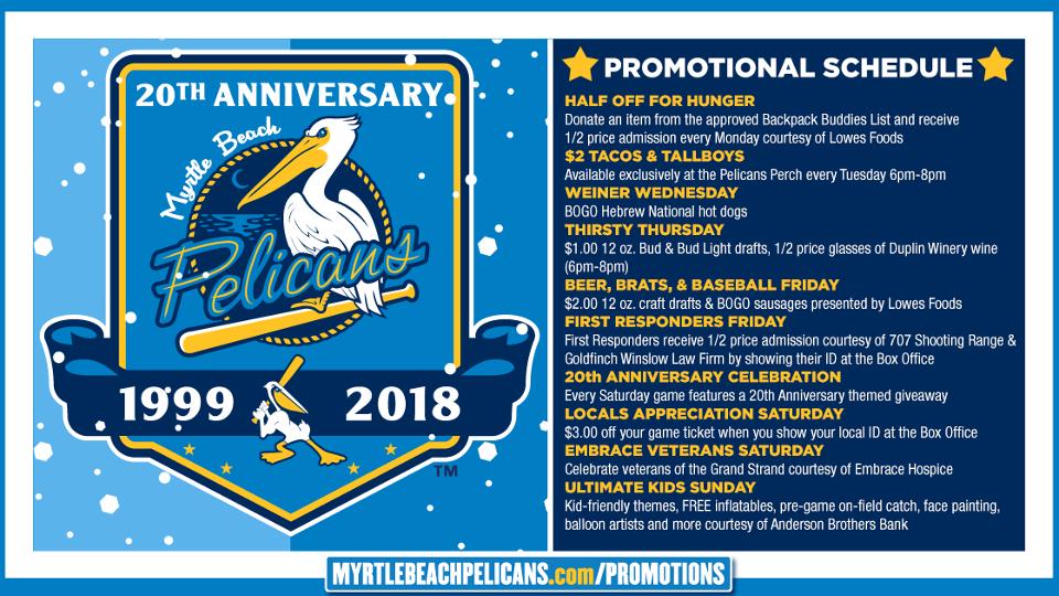 Myrtle Beach Pelicans Schedule Home