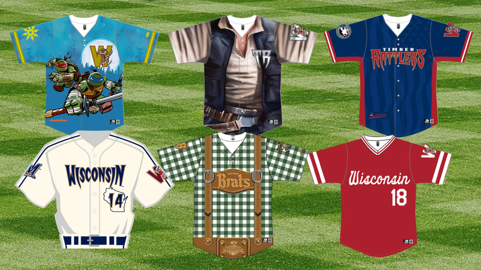 huge discount 81a70 908ae Timber Rattlers unveil 2018 Specialty Jerseys | Wisconsin ...