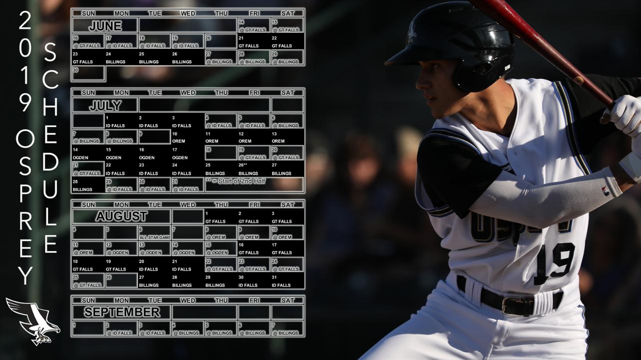 Osprey Announce 2019 Schedule