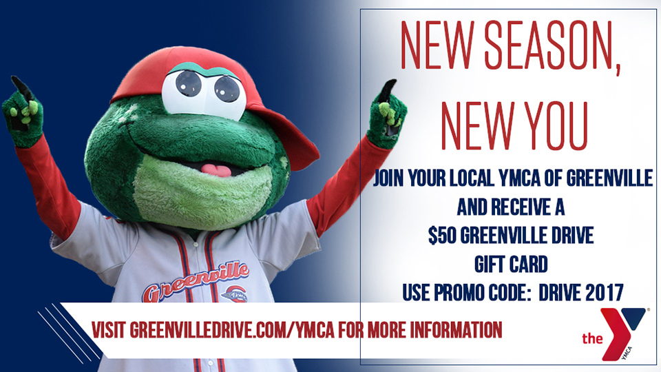 New Season, New You with the Drive and YMCA | Greenville Drive News