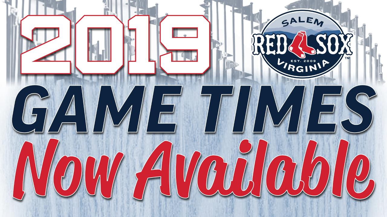 photo regarding Printable Red Sox Schedule called Salem Crimson Sox Announce Activity Instances for 2019 Period Salem