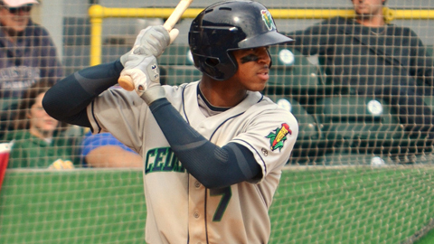 Byron Buxton had ranked second in the Midwest League in batting.