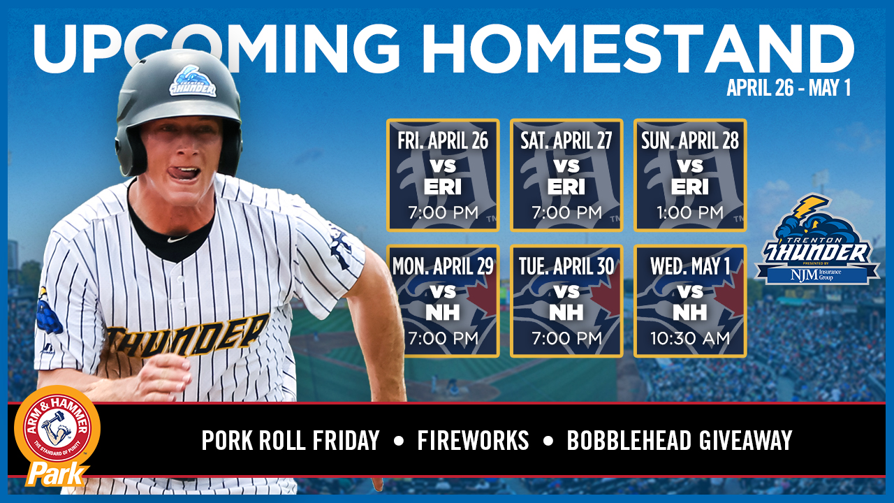 Upcoming Homestand 4-26