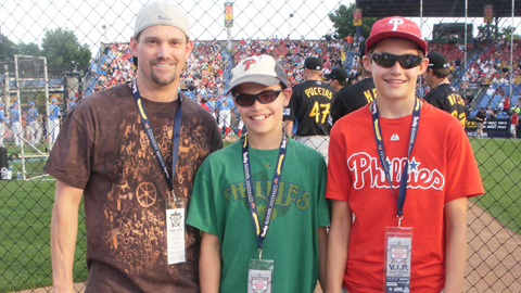 You can be like these Fightins fans and enjoy the VIP On-Field Warning Track Party.