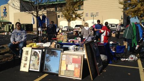 About 40 vendors took part in the 2012 Legends rummage sale.