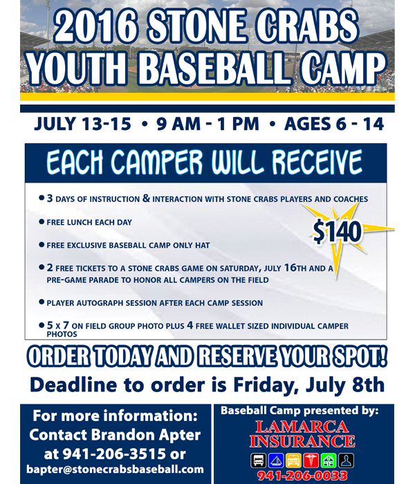 2016 youth baseball camp charlotte stone crabs community 2016 youth baseball camp sciox Gallery