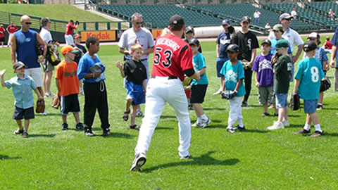 Kids can learn from the Wings at our Baseball Camp.
