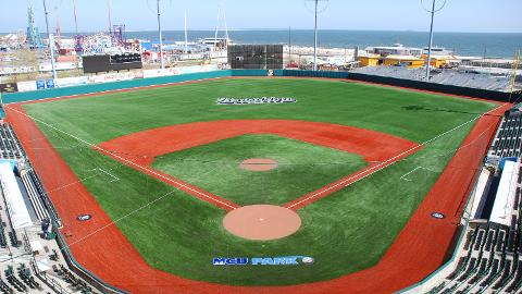 Brooklyn's MCU Park now features FieldTurf synthetic grass following a renovation this winter.