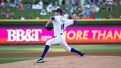 Myles Jaye became the third Dash hurler to earn the Pitcher of the Week.