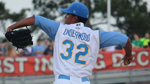 Duane Underwood has held Carolina League opponents to three runs -- two earned -- in his first two starts.