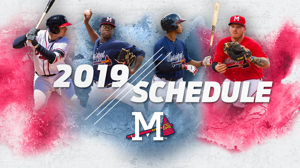 picture regarding Atlanta Braves Tv Schedule Printable named M-Braves Announce 2019 Timetable and 15th Period at Trustmark