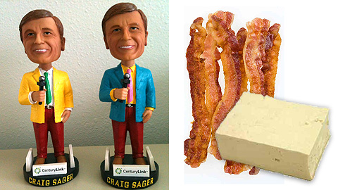 Craig Sager (and his bobbleheads) visit Fort Myers while Fresno cooks up bacon and tofu.
