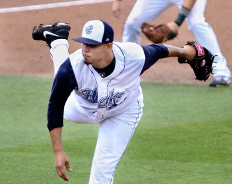 Ruben Alaniz tossed seven innings of two-hit shutout ball