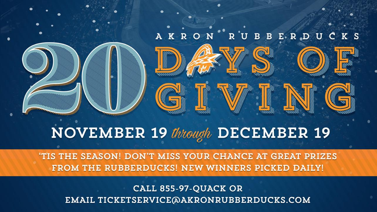 Akron RubberDucks 20 Days of Giving 2019