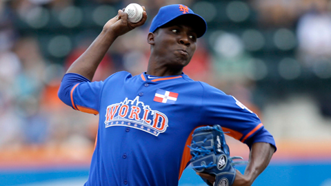 Rafael Montero started for the World Team at the All-Star Futures Game.
